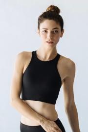 Hazel Halter Crop-Black