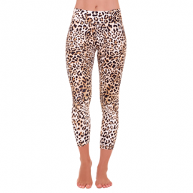 Liquido Active Patterned Legging - Queen Cheetah